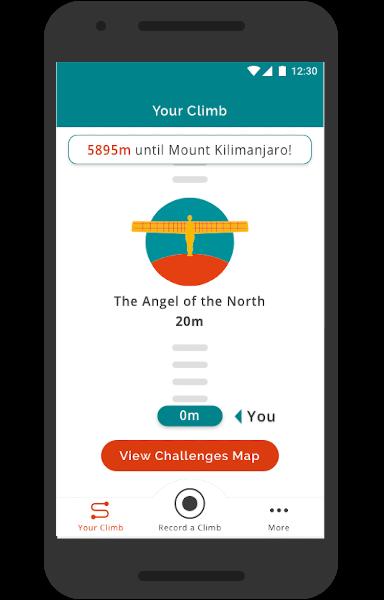 The Climb, Mobile App Climb progress