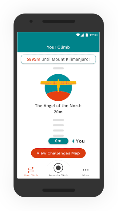 The Climb, Mobile App Climb progress
